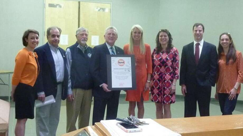 Contributed photoMayor Harry Rilling, along with other Norwalk officials took the annual YWCA pledge in promising to remain vigilant in the fight against racism.