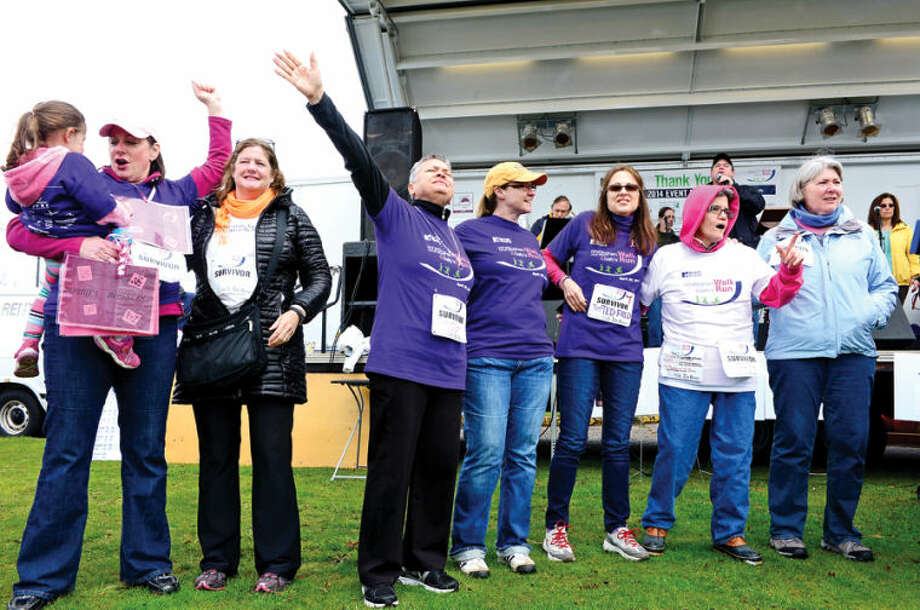 Hour photo / Erik Trautmann The 11th Annual Whittingham Cancer Center Walk & Sally's Run at Calf Pasture Beach saturday where more than 2,500 participants from Fairfield County turned to support, celebrate and remember all those fighting cancer as well as those we have lost to this disease.