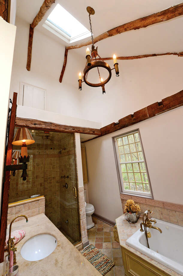 The home at 37 Godfrey Road in Weston, Conn. on Wednesday, May 5, 2016 is on the market for $1.4 million. The restored 18th century tavern was moved from Sheffield, Massachussetts in the 1980's.