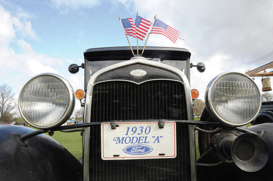 """The front end of a 1930 Ford Model """"A"""" Sunday at the Auto Show & Flea Market held at Norwalk's Taylor Farm. Hour photo/Matthew Vinci"""