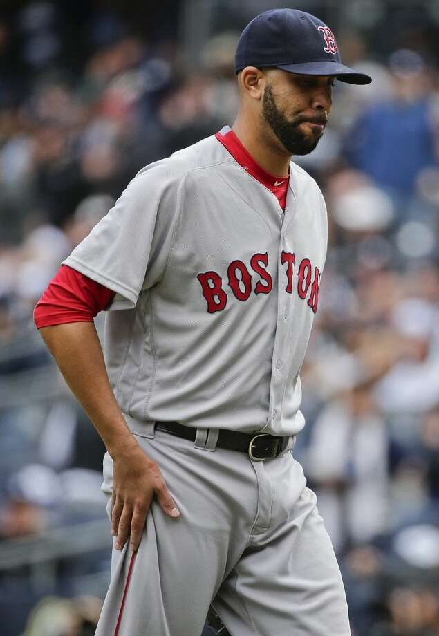 Boston Red Sox starting pitcher David Price leaves the the field during the fifth inning of a baseball game against the New York Yankees Saturday, May 7, 2016, in New York. (AP Photo/Frank Franklin II)