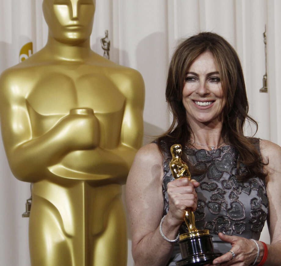 "FILE - In this March 7, 2010 file photo, Kathryn Bigelow poses backstage with the Oscar for best achievement in directing for ""The Hurt Locker"" at the 82nd Academy Awards, in the Hollywood section of Los Angeles. Bigelow is the only woman to win the Academy Award and Directors Guild Award for best director. The ACLU of Southern California and the national ACLU Women's Rights Project said Tuesday, May 12, 2015, they were moved to act after compiling statistical evidence of ""dramatic disparities"" in the hiring of women as film and television directors. This was bolstered, they said, by anecdotal accounts from more than 50 female directors. (AP Photo/Matt Sayles, File)"
