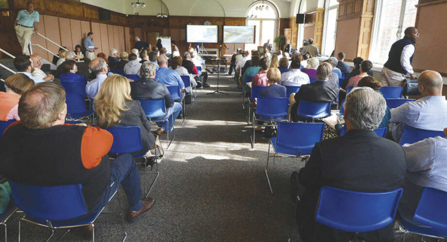 A full house at the first of two Connecicut Department of Transportation public information meetings at Norwalk City Hall about the Walk Bridge replacement project, in Norwalk Conn. May 11 2016