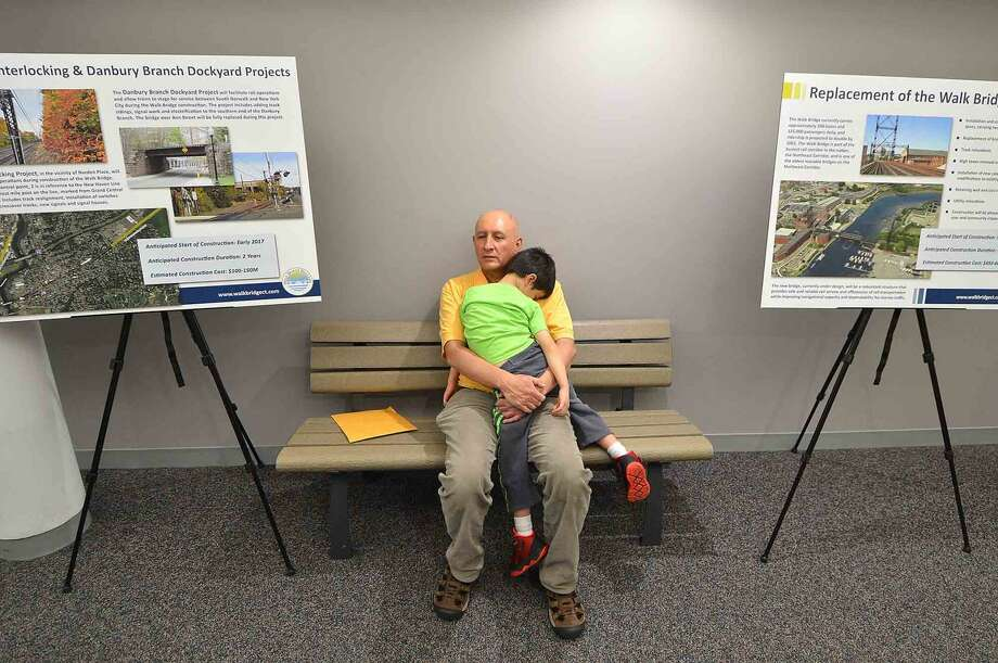 Nap time for some during Connecicut Department of Transportation public information meetings at Norwalk City Hall about the Walk Bridge replacement project, in Norwalk Conn. May 11 2016