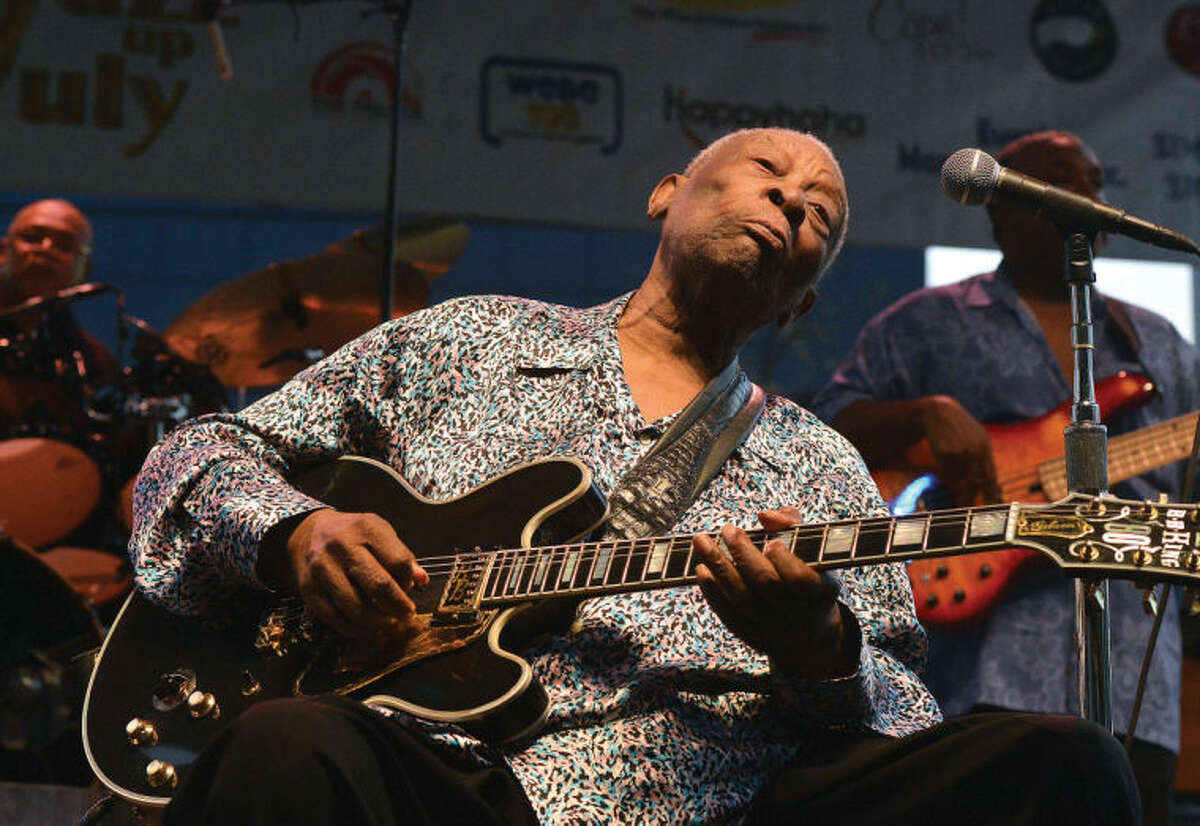 Hour File Photo/Alex von Kleydorff. Legendary Bluesman BB King performs at Stamford's Jazz up July on Wednesday night. Next up in the series is Delbert McClinton on July 23rd in Columbus Park. The concerts are produced by Downtown Special Services District and the City of Stamford.
