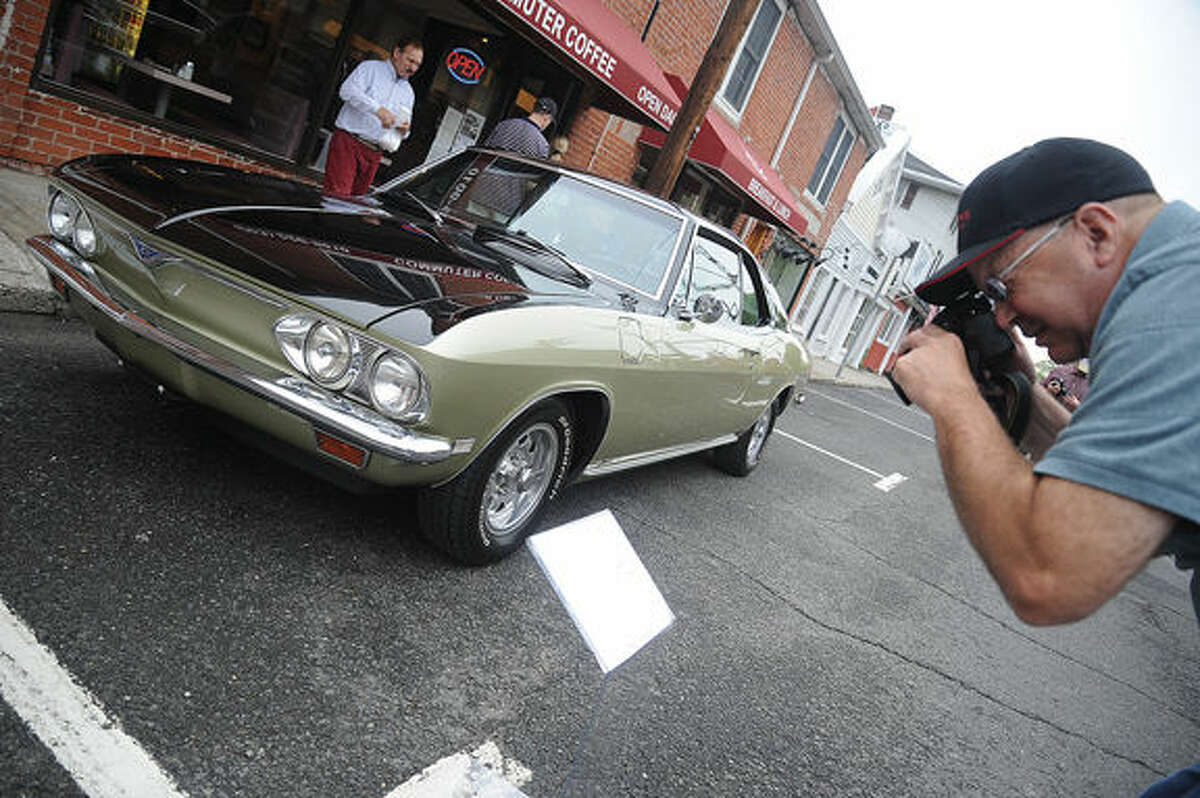 a 1968 Fitch Sprint on display Sunday at the Westport Weston Chamber of Commerce's first Concours d'Caffeine, gathering of classic cars. Hour photo/Matthew Vinci