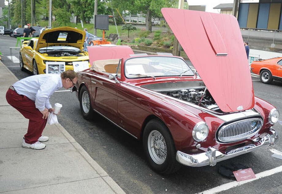 A Cunningham C3 Cabriolet on display Sunday at the Westport Weston Chamber of Commerce's first Concours d'Caffeine, gathering of classic cars. Hour photo/Matthew Vinci