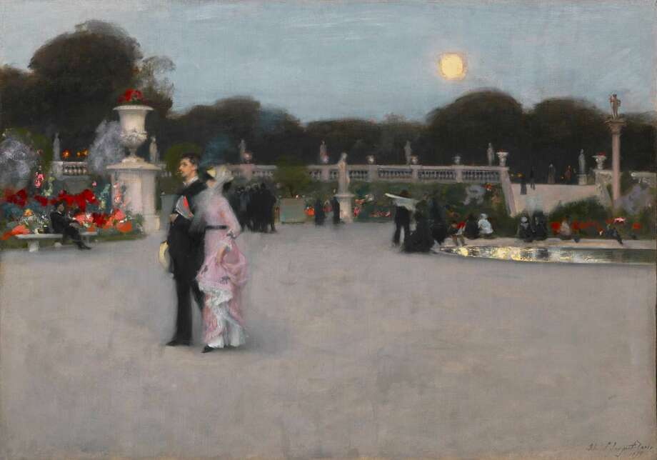 "John Singer Sargent's ""In the Luxembourg Gardens,"" 1879, is featured in ""Electric Paris,"" on view at the Bruce Museum in Greenwich from May 14 through Sept. 4. Photo: Joseph Hu"