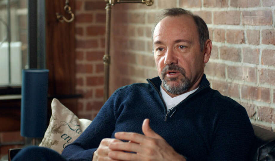 "This image released by Donna Daniels Public Relations shows actor Kevin Spacey speaking from the documentary, ""NOW: In the Wings on a World Stage,"" that captures Spacey and his troupe of 20 British and American actors during their 10-month international tour of ""Richard II"" from 2011-2012. (AP Photo/Donna Daniels Public Relations, Jeremy Whelehan)"