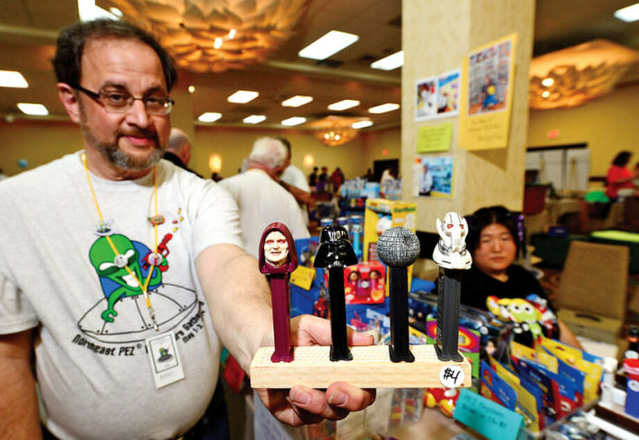 Hour photo / Erik Trautmann The 16th Annual North East PEZ Collector's Gathering Saturday at the the Stamford Sheraton.