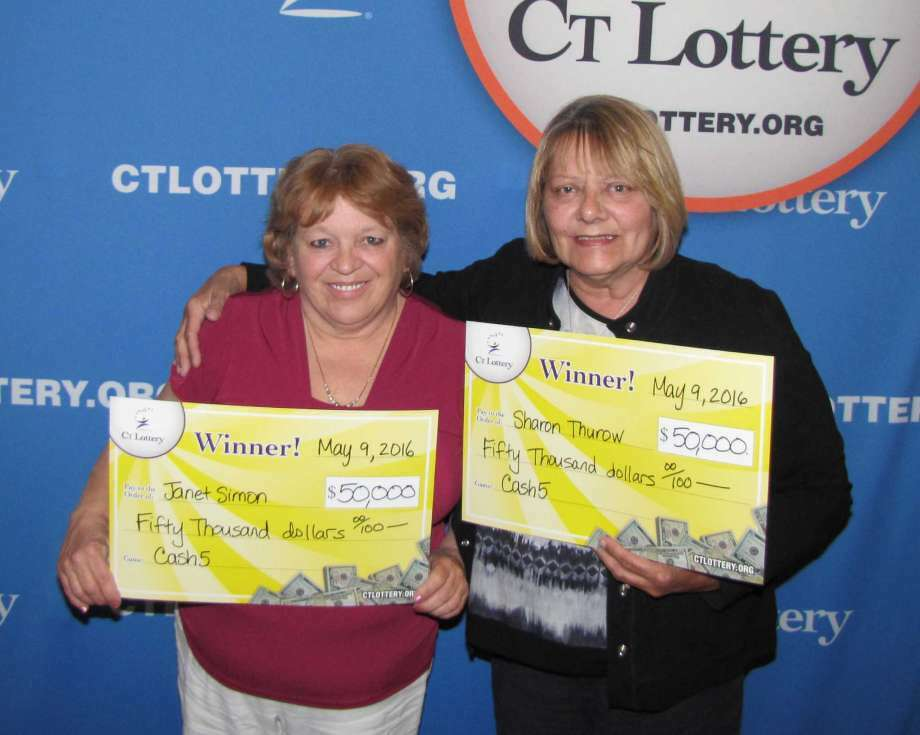 Janet Simon, left, and Sharon Thurow will share a $100,000 Cash 5 prize. The longtime friends have been playing the lottery for more than 20 years. (Photo: CT Lottery)