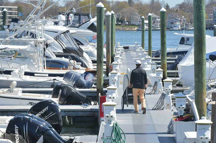 Boat slips are stating to fill up along the docks at Rex Marine in Norwalk Conn. on Sunday April 17 2016