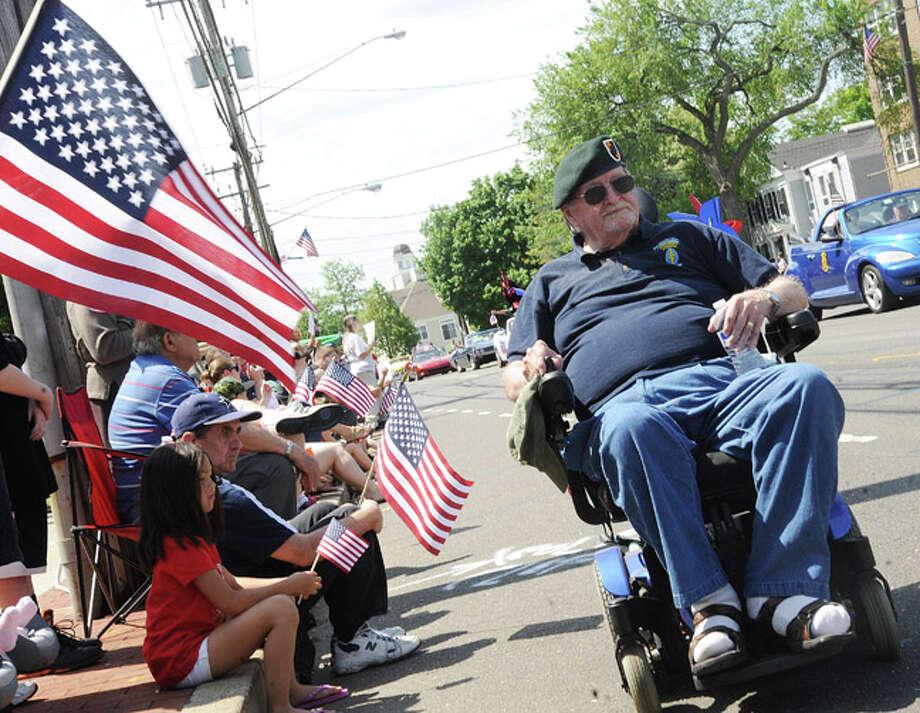 LT. Colonel David Cole at the Norwalk Memorial Day parade. Hour photo/Matthew Vinci