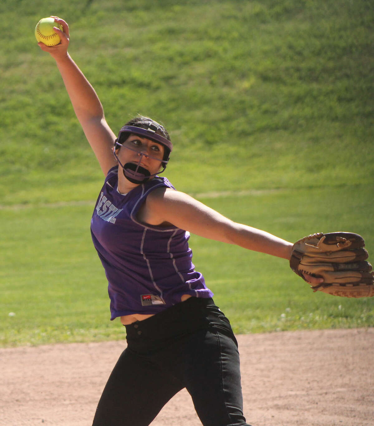 Westhill's Casey Dicine kept Ridgefield off the board in the Vikings win on Saturday. (Stamford Times/Joe Ryan)