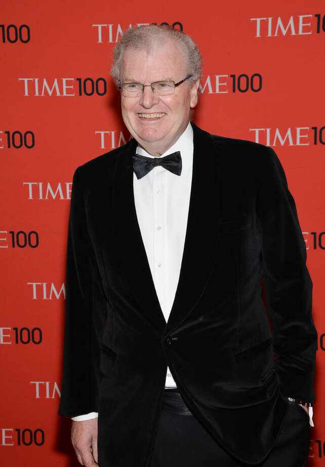"FILE - In this April 29, 2014 file photo, Howard Stringer arrives at the 2014 TIME 100 Gala in New York. In his long career at CBS and then as Sony boss, Stringer has faced plenty of ticklish negotiations and weighty talent deals. Stringer was president of CBS when the seismic plates of late-night TV began shifting: Johnny Carson in 1992 was stepping down from NBC's ""Tonight Show"" after 30 triumphant years, to be replaced by Jay Leno, a position David Letterman wanted. Stringer brought Letterman to CBS to host ""Late Show with David Letterman."" (Photo by Evan Agostini/Invision/AP, File)"