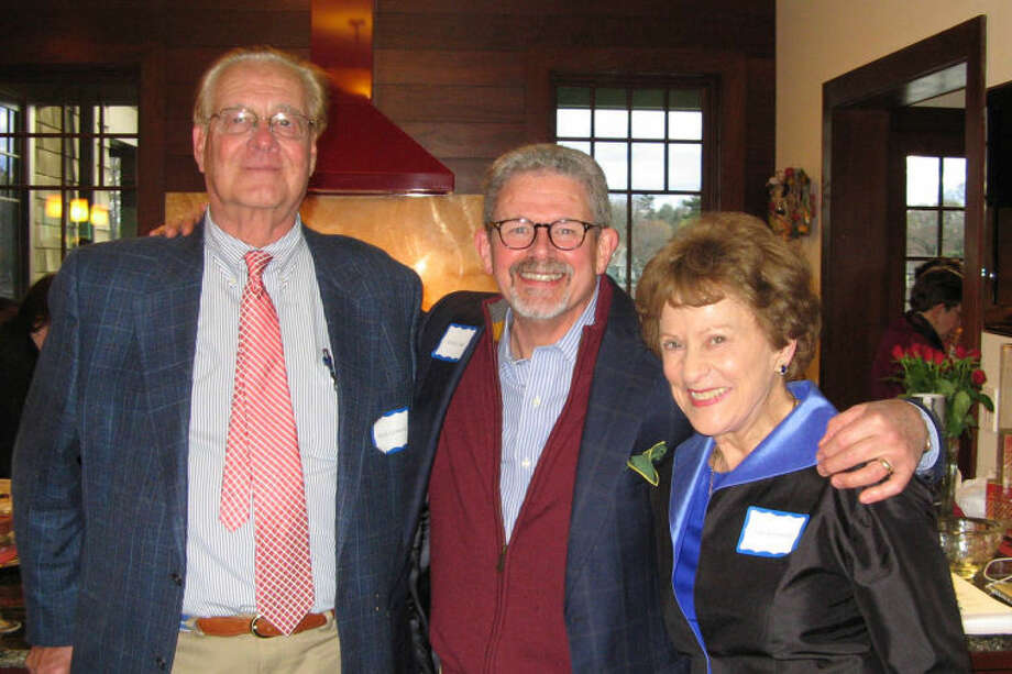 Wilton residents Buck Griswold, Kevin Craw and Lila Griswold.