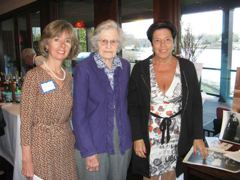 Agency President and CEO Sharon Bradley, with Susan Malloy and her niece, Ann Sheffer, who hosted the Seaside Soirée at her home.