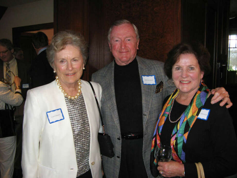 Event sponsor, benefit committee member and Wilton resident Carol Bauer, with Wilton First Selectman Bill Brennan and his wife, Kathleen.