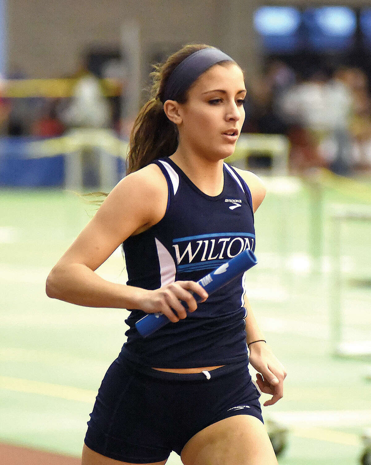 Wilton's Laine Parsons competes at the 2015 State Open indoor track championship meet in New Haven. (Photos by John Nash)