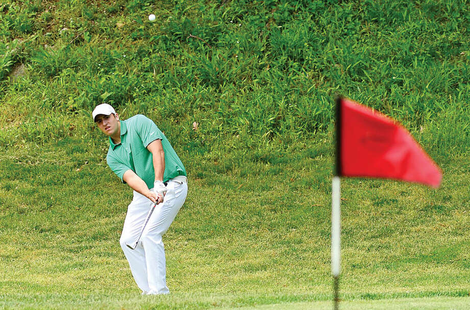 Hour photo / Erik Trautmann High School golfers including Norwalk's Billy Passero compete in the annual Chappa Golf Tournament at Longshore Club Park in Westport Thursday