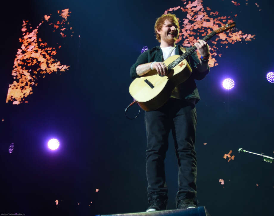 Hour photo/John Nash - Ed Sheeran played at the Mohegan Sun Arena on Saturday, May 23, 2015.