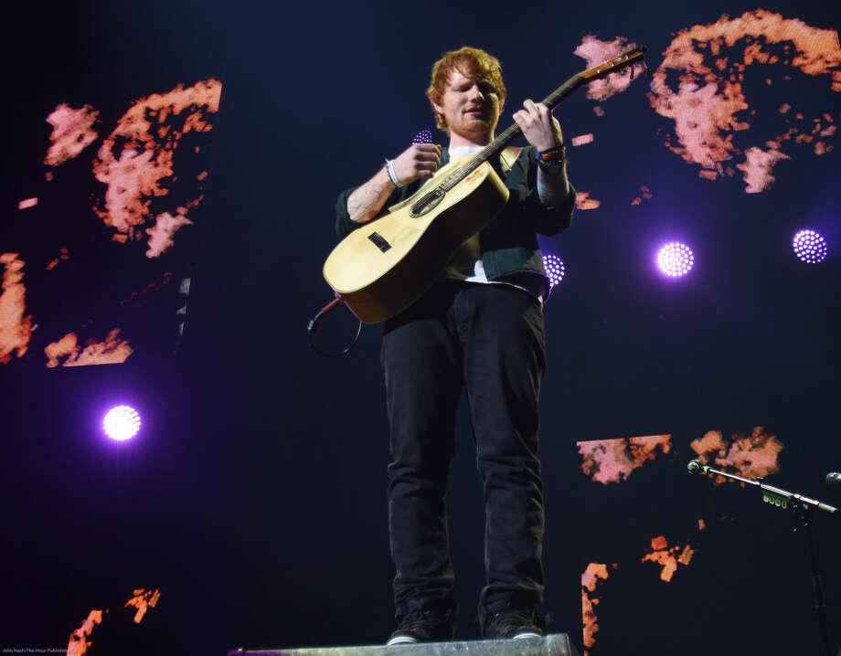 Hour photo/John Nash - Ed Sheeran played at the Mohegan Sun Arena on Saturday, May 23, 2015.