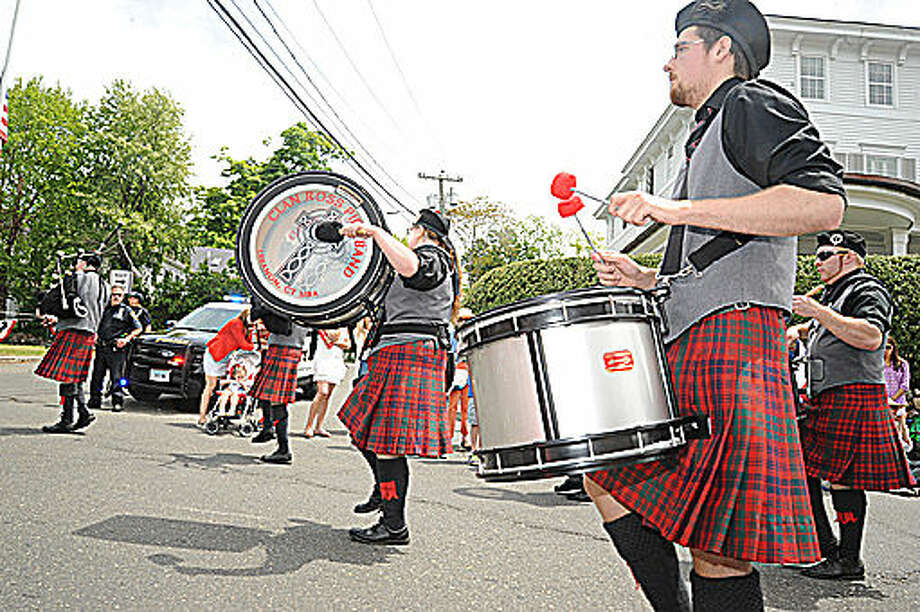 The Clan Ross Pipe Band at the Memorial Day Parade in Rowayton on Sunday. Hour photo/Matthew Vinci