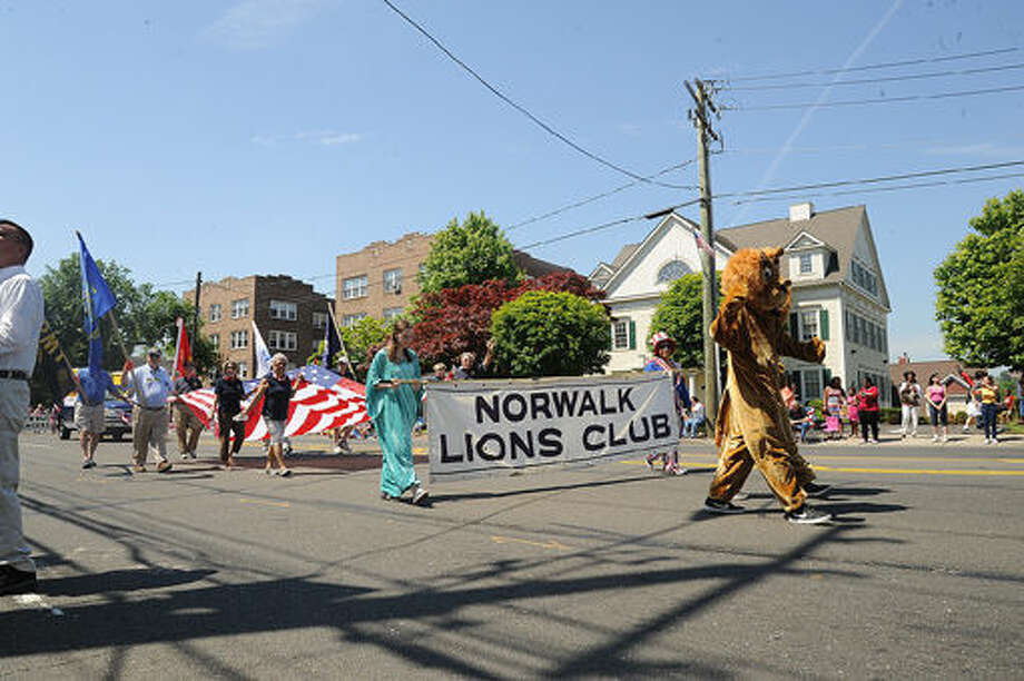 Norwalk Lions Club at the 2015 Memorial Day Parade in Norwalk. Hour photo/Matthew Vinci