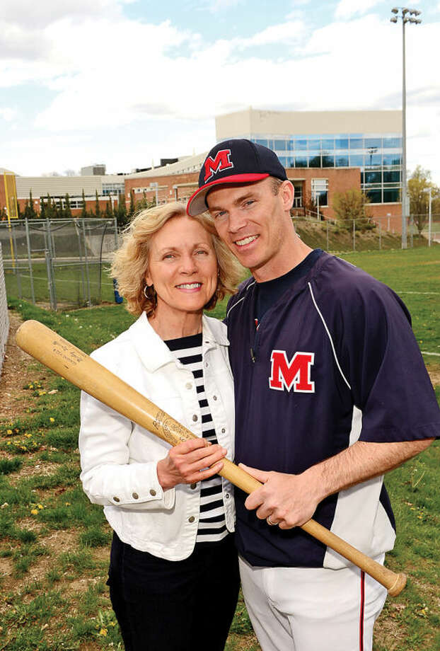 Hour photo / Erik Trautmann BMHS baseball coach John Cross and his mother