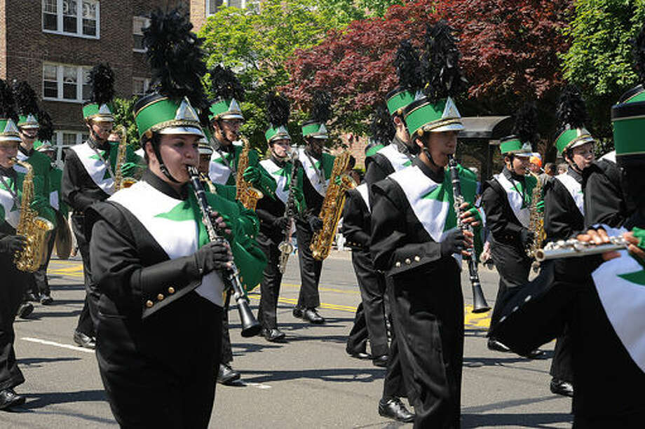 Norwalk High school marching band at the 2015 Memorial Day Parade in Norwalk. Hour photo/Matthew Vinci
