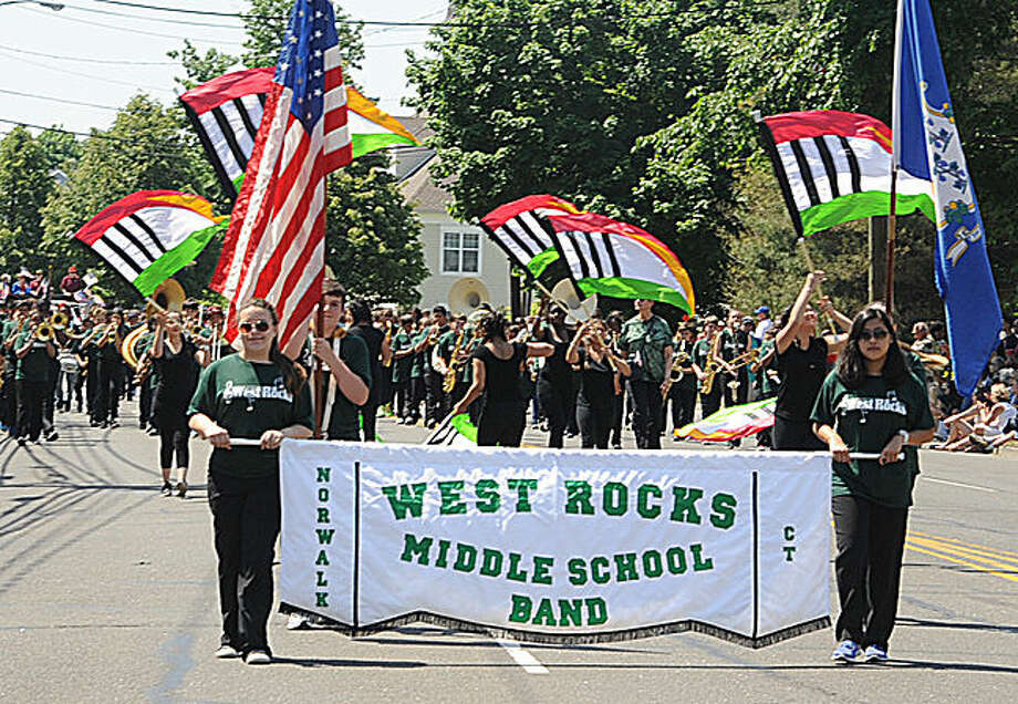 West Rocks Middle School at the 2015 Memorial Day Parade in Norwalk. Hour photo/Matthew Vinci