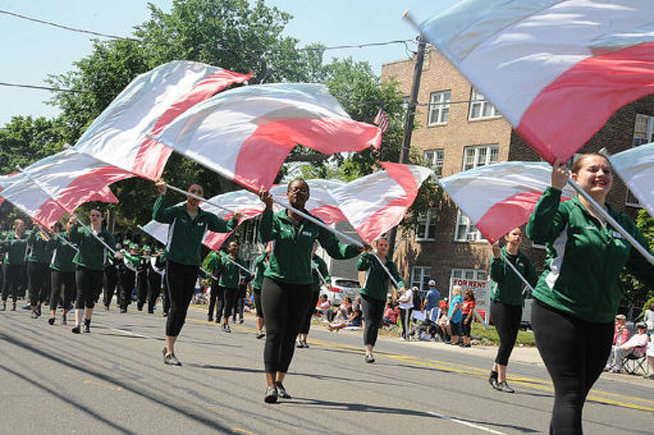 The Norwalk High School marching band at the 2015 Memorial Day Parade in Norwalk. Hour photo/Matthew Vinci