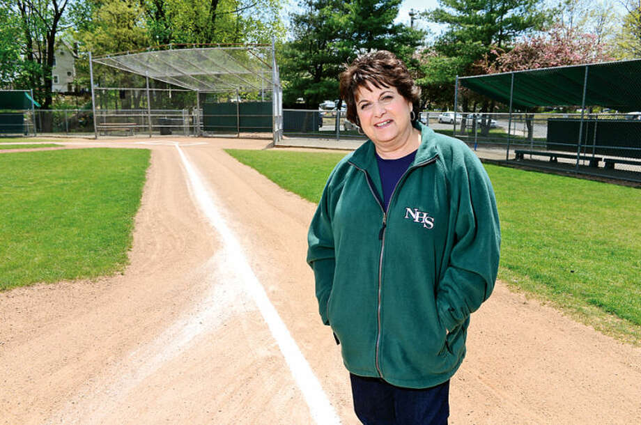 Hour photo / Erik Trautmann Theresa Tucci, wife of Norwalk High School baseball coach Pete Tucci.