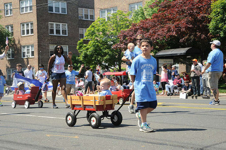 Jefferson School at the 2015 Memorial Day Parade in Norwalk. Hour photo/Matthew Vinci