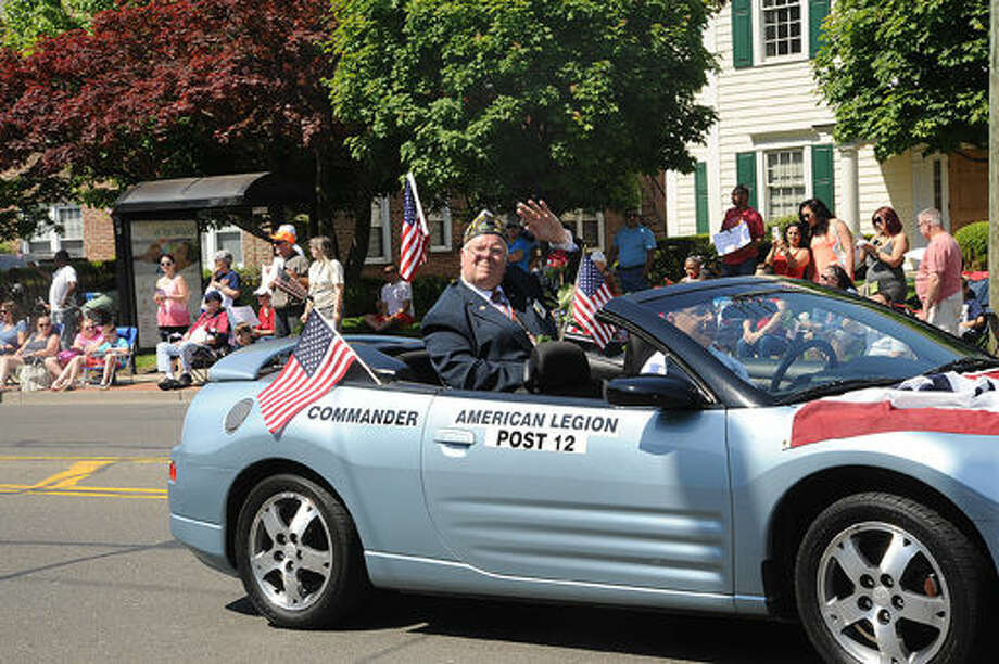 American Legion Post 12 Commander Rich Olsen at the 2015 Memorial Day Parade in Norwalk. Hour photo/Matthew Vinci