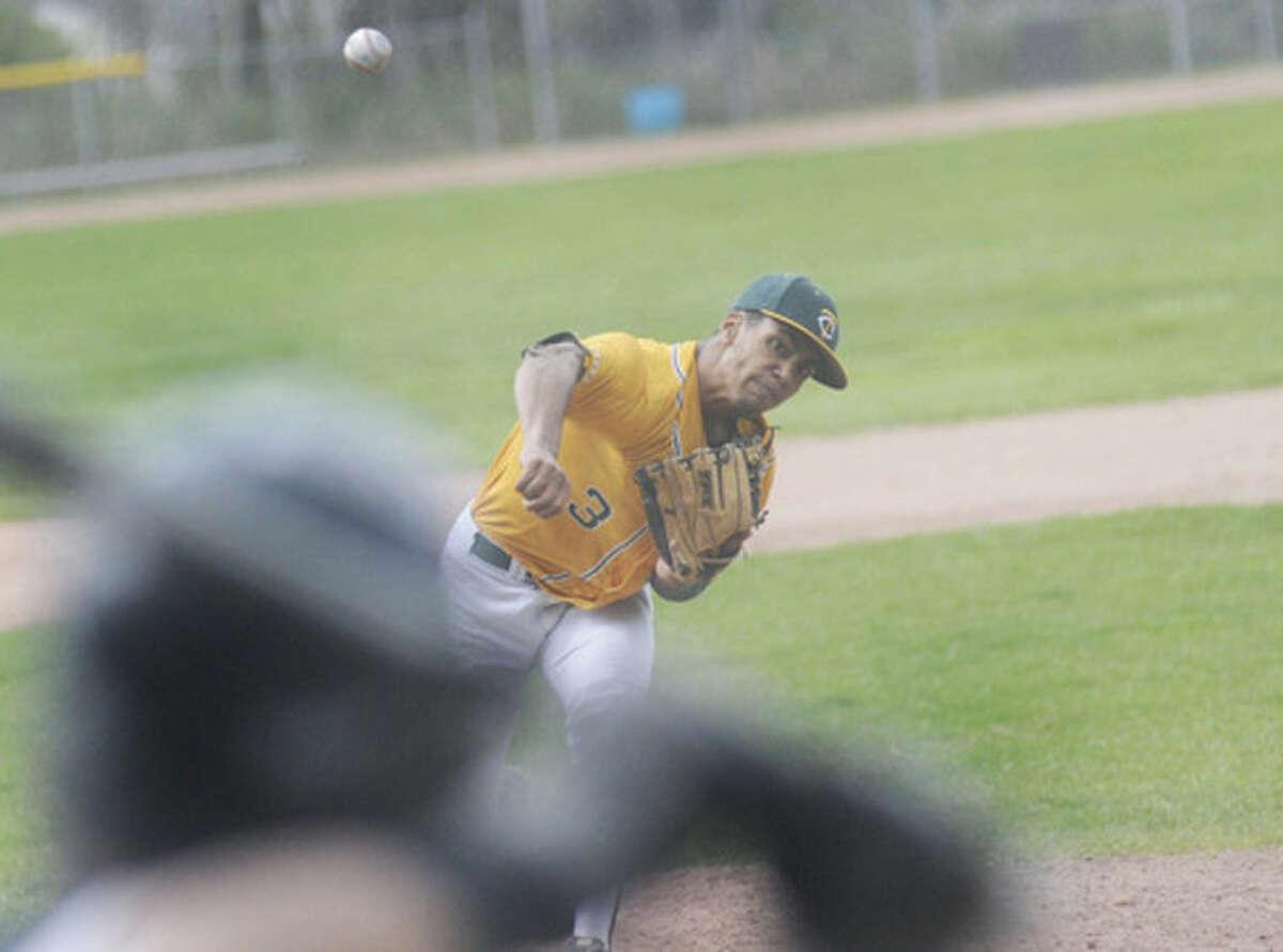 Trinity Catholic starting pitcher Randy Polania. photo/Matthew Vinci