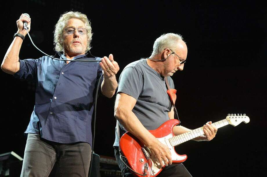 Hour Photo/Alex von Kleydorff Roger Daltrey and Pete Townshend perform a lifetime of music for their fans during the bands stop at The Mohegan Sun Arena on their 'Who hits 50' tour to celebrate the bands Golden anniversary