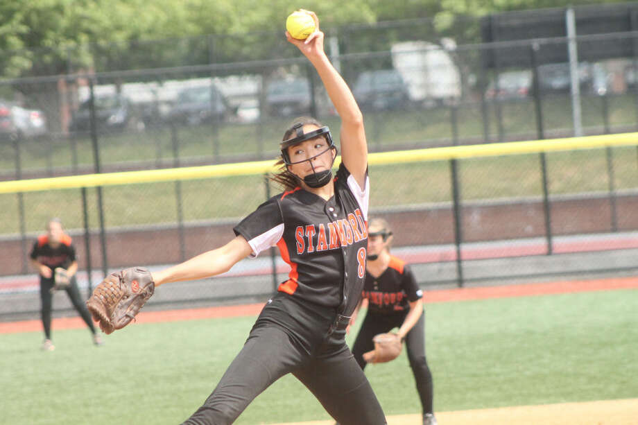 Stamford's Sara Staley struck out five and allowed just five hits in the Black Knights win, 3-2, over Darien in the FCIAC semifinals. (Joe Ryan/Stamford Times)