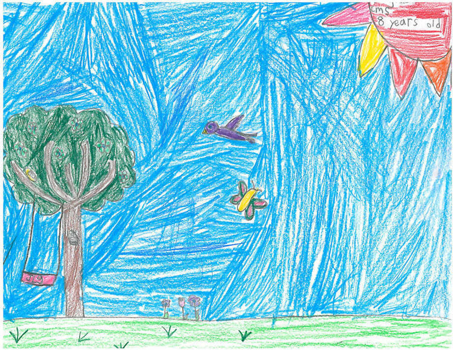 Today's Weather Drawing, Saturday, May 10 Jacqueline Gibson, 2nd grade, Columbus Magnet School