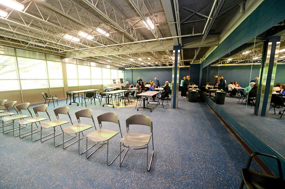 The multi-purpose room in the newly renovated Comstock Community Center in Wilton.