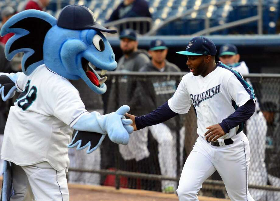 Catch the Bridgeport Bluefish as they take on the Sugar Land Skeeters Friday, Saturday, and Sunday at Harbor Yard in Bridgeport. Photo: Christian Abraham
