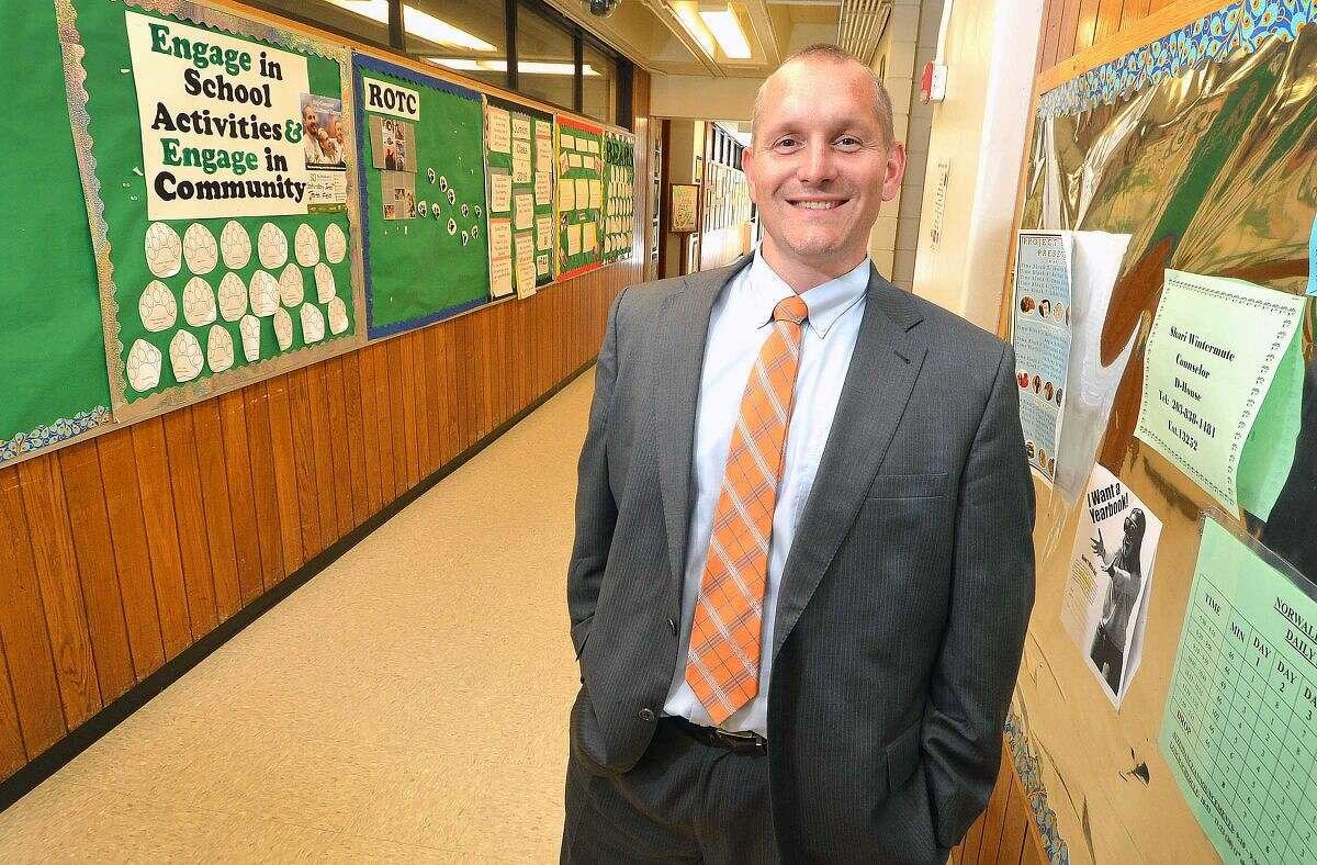 Hour photo/Alex von Kleydorff Stamford High School new principal Raymond Manka.