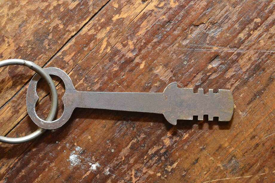 The front door key to the house at 19 Jacob St. A former artists home and studio in Rowayton in Norwalk Conn. May 18 2016
