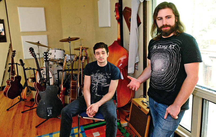John Ospina and Chris Yerinides comment on their founding of RabbitHouse Records, a local record label from Norwalk, Conn. that is focused on uniting artists of all disciplines to create a thriving creative community Wednesday, May 18, 2016.
