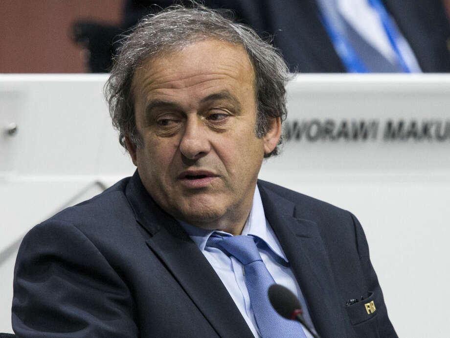 FIFA vice president Michel Platini of France attends the 65th FIFA Congress held at the Hallenstadion in Zurich, Switzerland, Friday, May 29, 2015. (Patrick B. Kraemer/Keystone via AP)