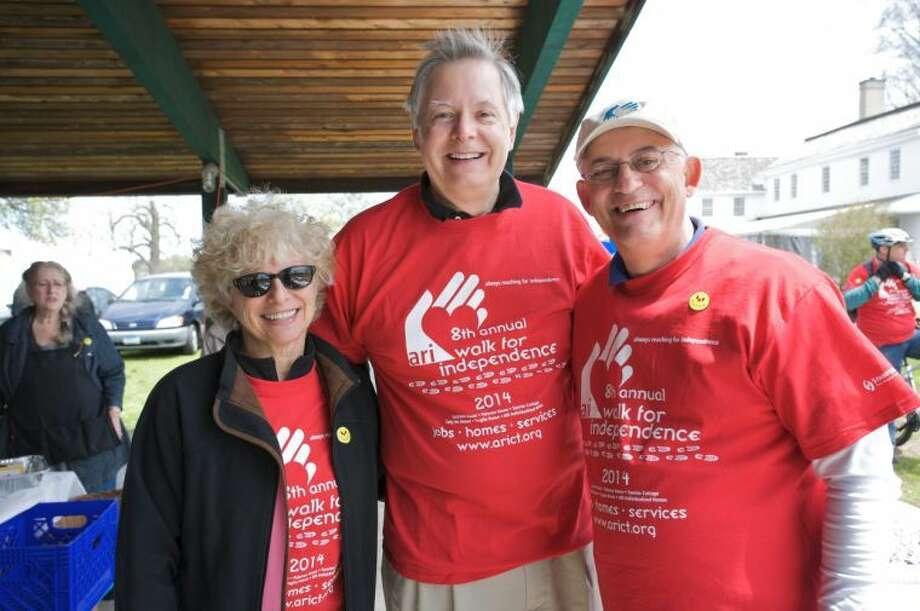 Past ARI Chairperson Barbara Aronica Buck of Stamford, Mayor David Martin and ARI President & CEO Matthew Reyher of Southbury.