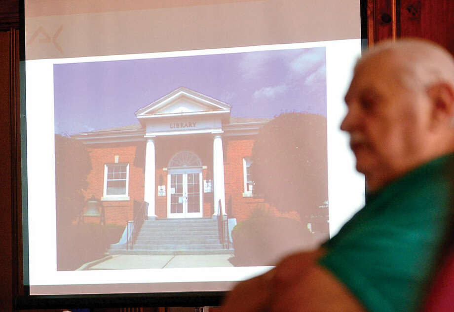 Hour photo / Erik Trautmann The Third Taxing District seeks public input on master plan for East Norwalk Library during meeting in Norwalk City Hall Community Room Saturday