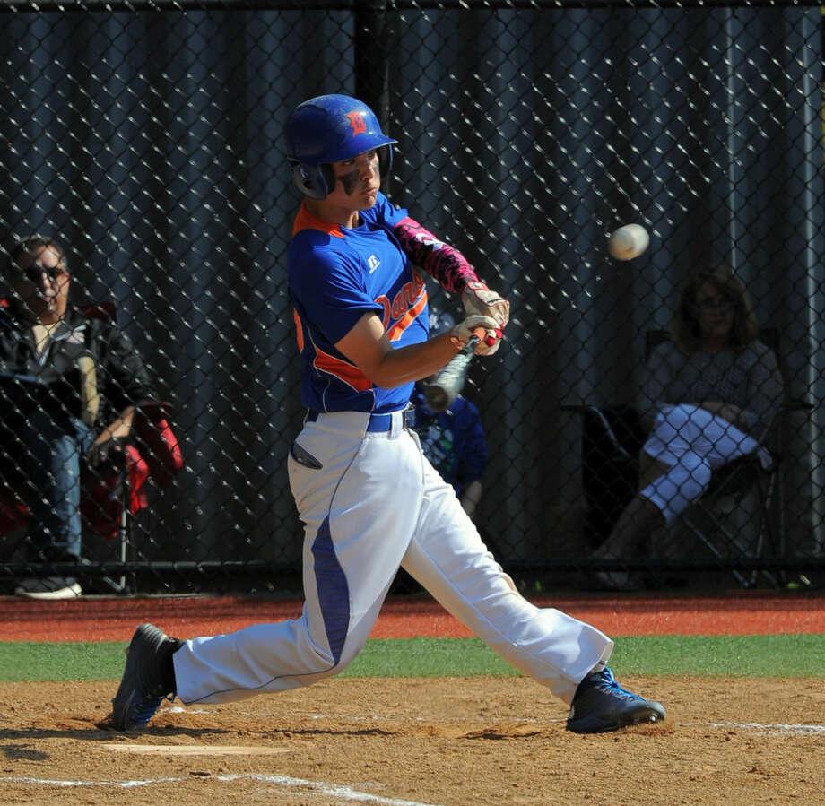 darien defeated Danbury 20-3 in an FCIAC baseball playoff game at Darien High School on Friday, May 20, 2016.