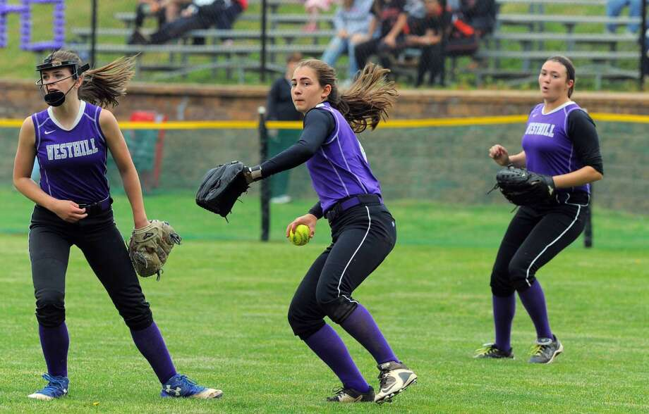 Westhill defeated Fairfield Ludlowe 10-1 in a FCIAC softball playoff game at Westhill High School in Stamford on Saturday, May 21, 2016.