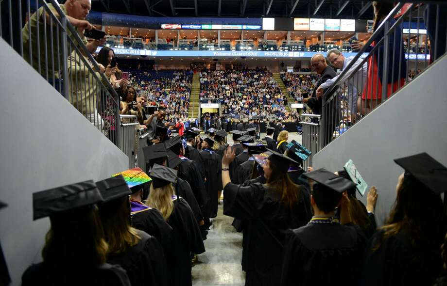 Southern Connecticut State University's Commencement 2016 Undergraduate Ceremony at the Arena at Harbor Yard in Bridgeport, Conn., on Friday May 20, 2016.